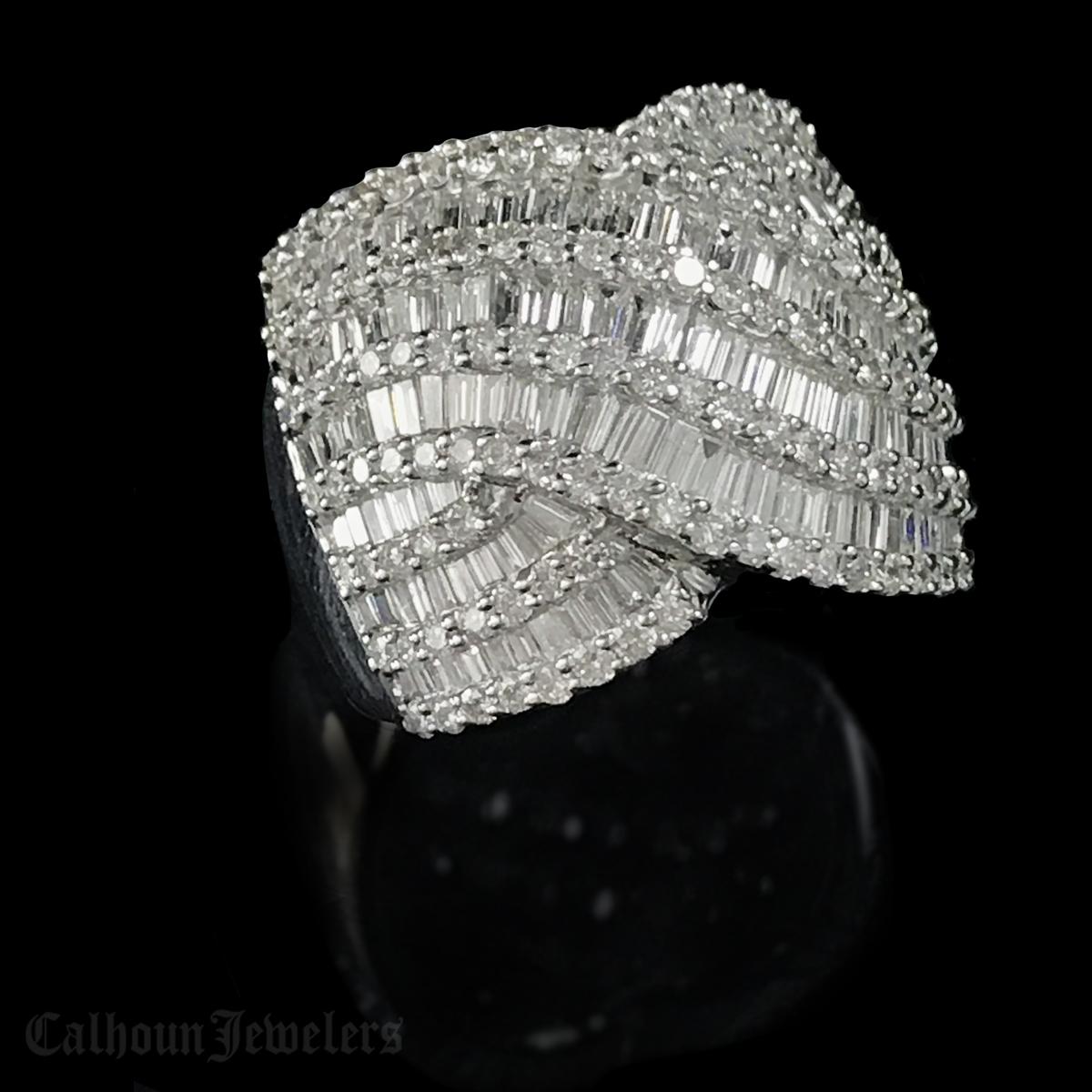 White Gold 18Kt. Diamond ring