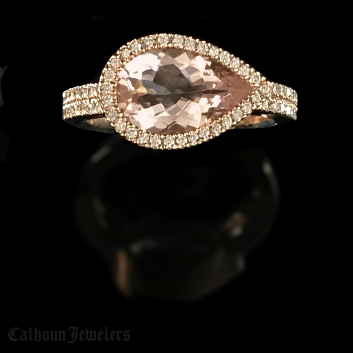 Three Carat Morganite Ring