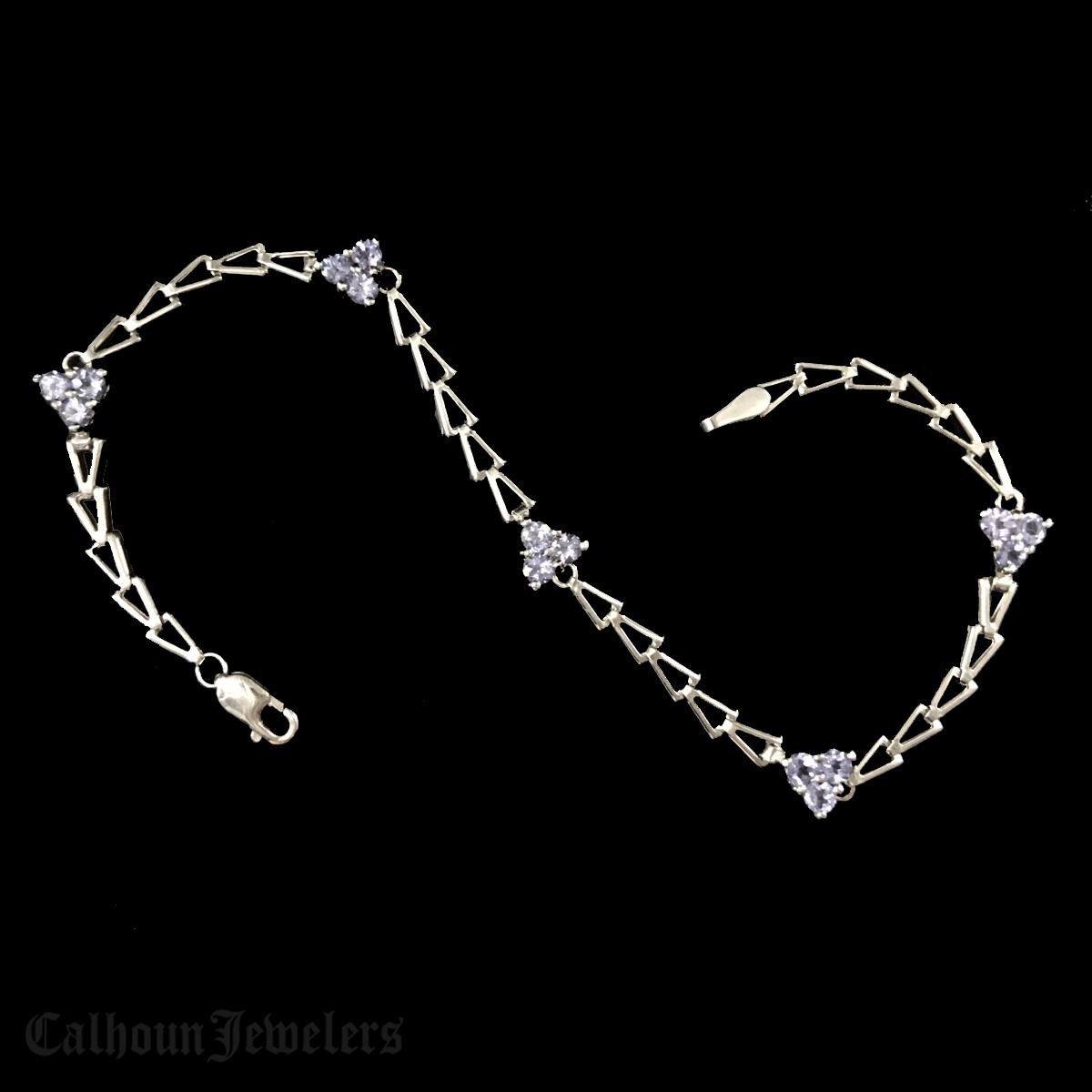 Tanzanite Open Link Bracelet
