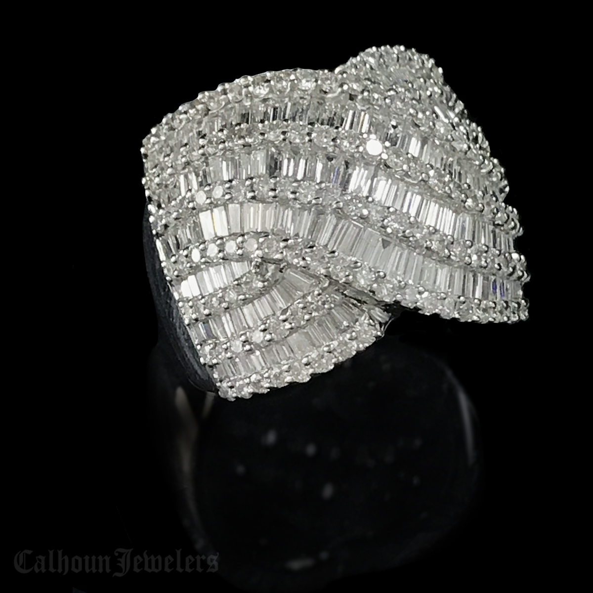 White Gold 18Kt. Diamond ring