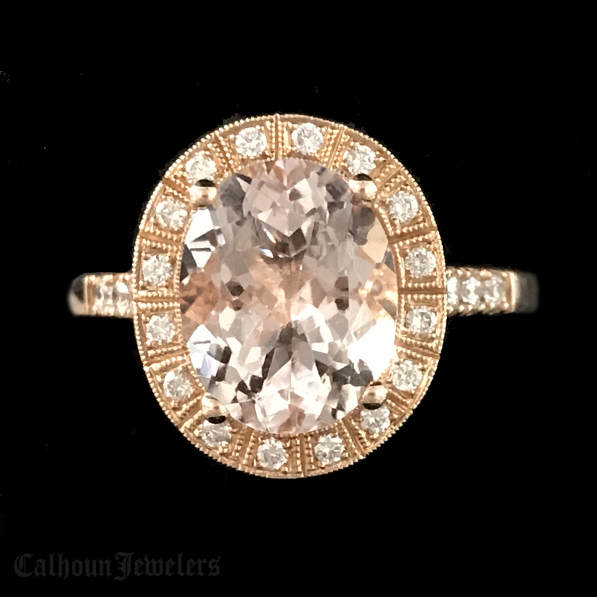 Oval Morganite in Rose Gold